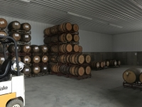 Barrels in new warehouse
